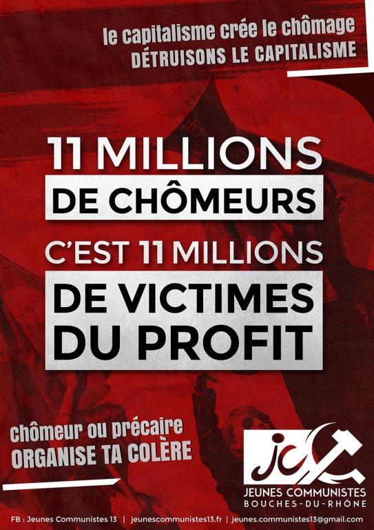 11 millions de chomeurs : 11 millions de victimes du profit