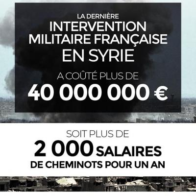 Le coût de l'intervention française en Syrie
